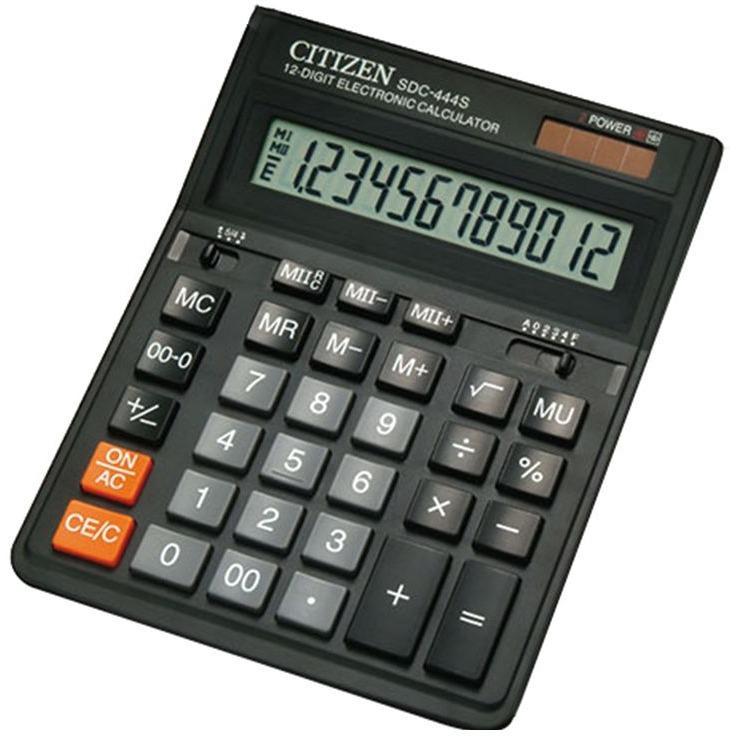 Citizen Calculator 12 Digit / Sdc - 444s /dual Power By Sumber Indah Pte Ltd.