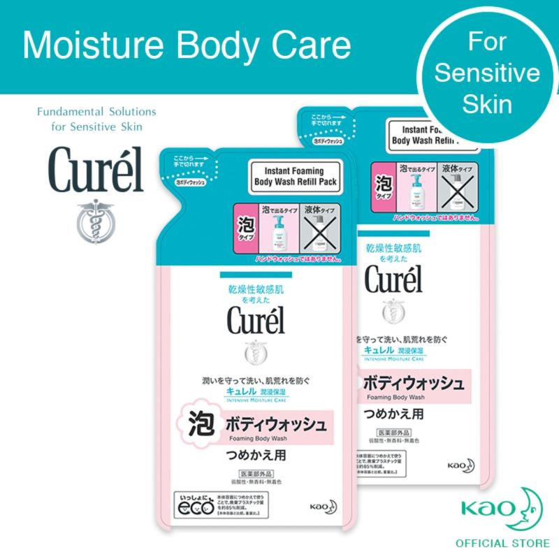 Buy Curel Instant Foaming Body Wash Refill 380Ml Twin Pack Singapore
