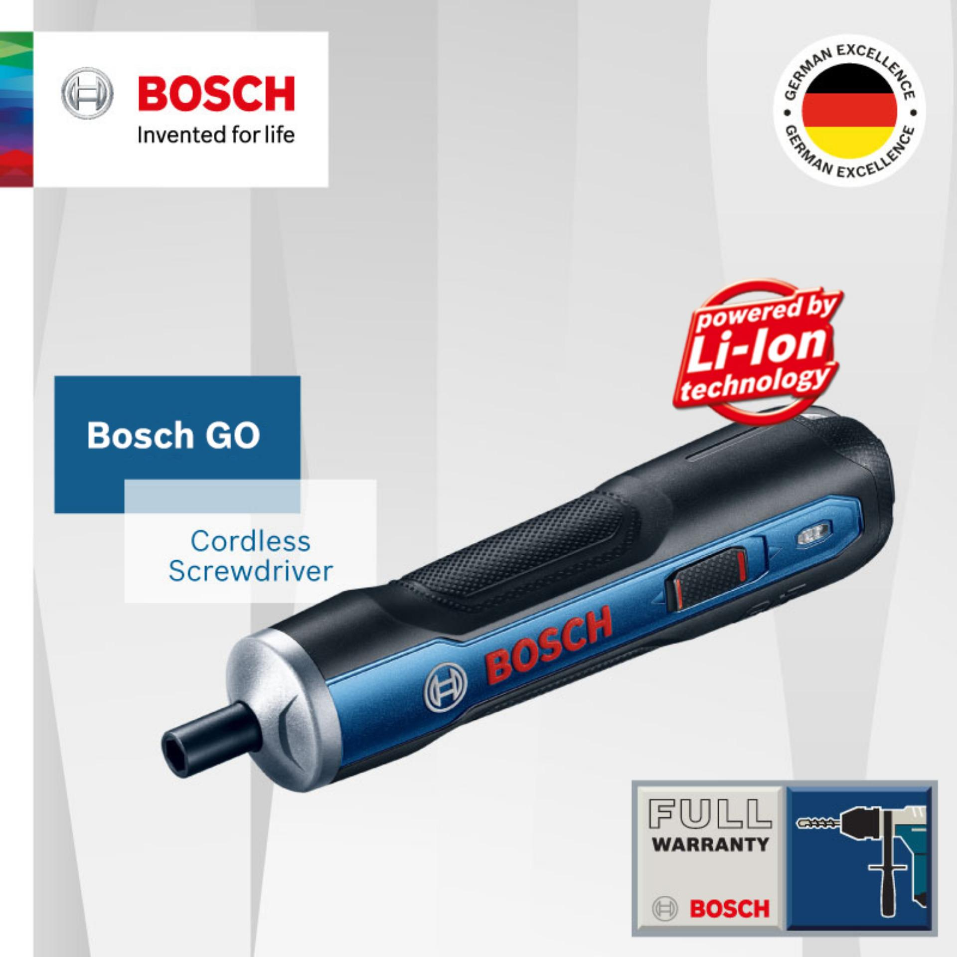 Bosch GO Rechargeable 3.6V Cordless Screwdriver Kit with 33pcs Screwdriver Bits