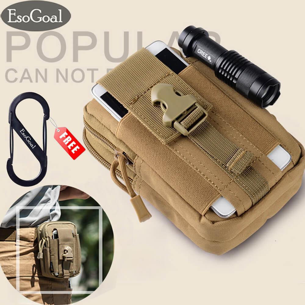 Esogoal Tactical Molle Pouch, Edc Utility Waist Belt Gadget Gear Bag Tool Organizer With Cell Phone Holster Holder (black) - Intl By Esogoal.