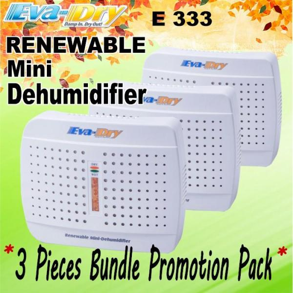 [ 3 Pieces Bundle ] Promotion Pack EVA-DRY E-333 Renewable Dehumidifier Singapore