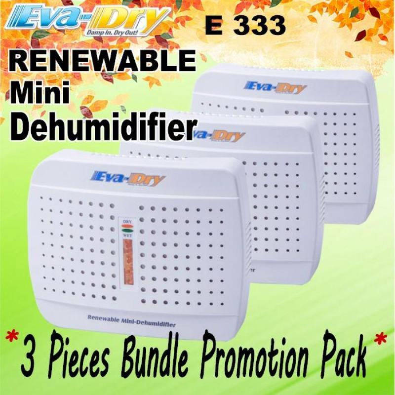 [ 3 Pieces Bundle ] Promotion Pack EVA-DRY E-333 Renewable Dehumidifier Singapore