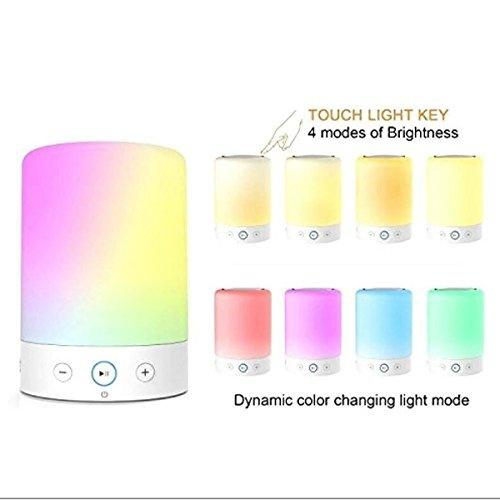 Sale Dimmable Touch Control Led Night Lights With Bluetooth 4 Speaker Intelligent Wireless Bluetooth Speaker On China