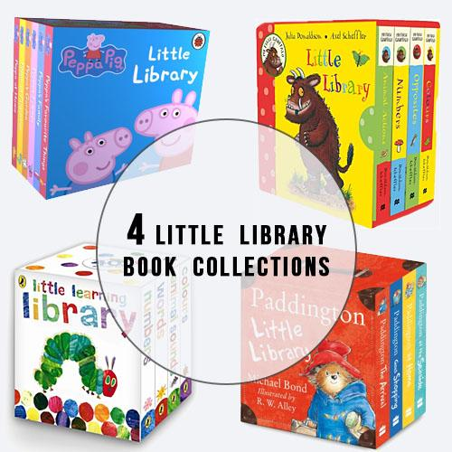 The Little Library Collection Baby Book Set 1 - Peppa Pig, Gruffalo,  Very Hungry Caterpillar, Paddington Bear  (ISBN: 9781409303183 & 9780230756052 & 9780141385112 & 9780008195809)