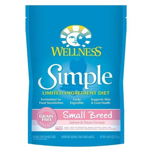 Recent Wellness Simple Solutions Small Breed Salmon Potato Dry Food For Dog 4Lbs 8Oz