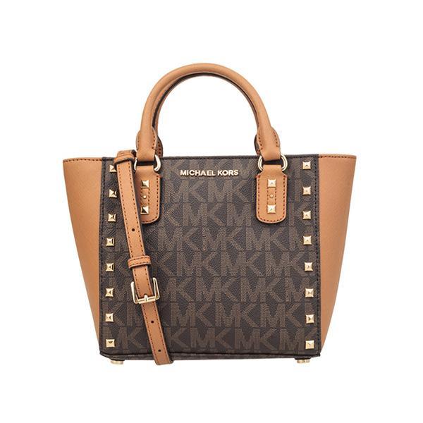 Mk Michael Kors Ciara Zip Top Saffiano Leather Tote Satchel Handbag Ol Shoulder Bag 35h5sc6s7l Navy
