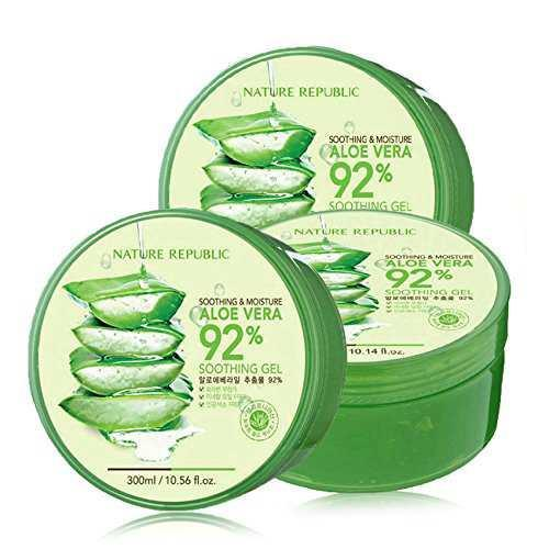 Compare Bundle Nature Republic Aloe Vera 92 Soothing Gel 300Ml X 3 Prices