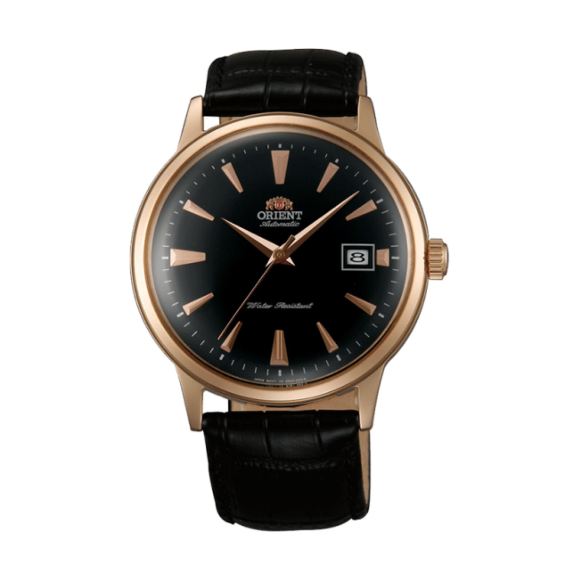 Orient Bambino Dome Crystal Japan Automatic Gold Tone Gent's Elegant Watch SAC00001B0 FAC00001B0