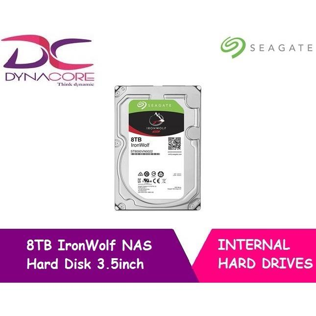 Seagate 8Tb Ironwolf Nas Sata 6Gb S Ncq 256Mb Cache 3 5 Inch Internal Hard Drive 8Tb On Singapore