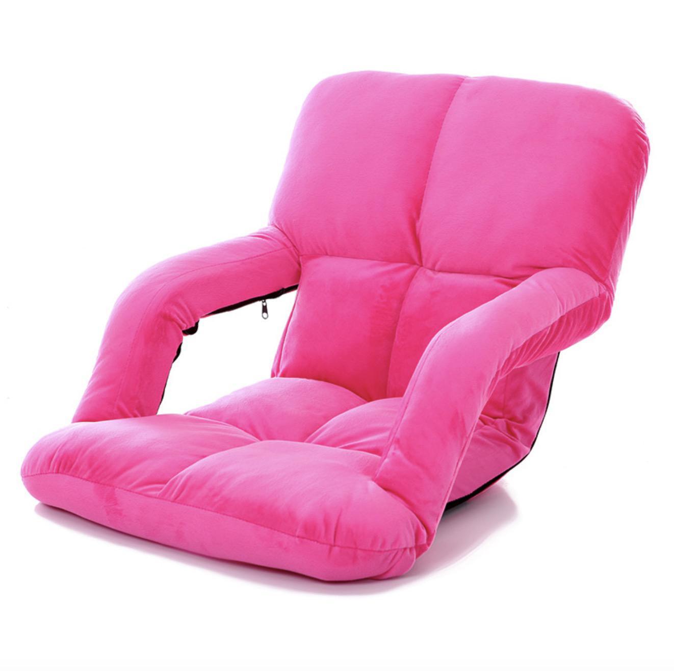 JIJI (Cotton Suede) 18 Cubes Washable 3-Fold Floor Chair Sofa with Armrest (95x58x13cm) (Floor Chair) - (Floor Chair) Recliner Floor chair/ (SG)