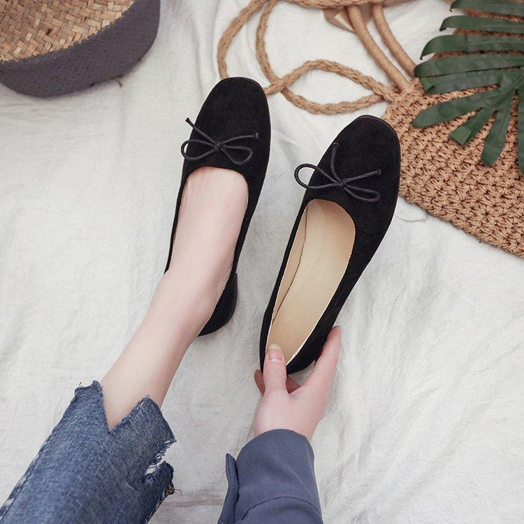 dad7027f7 Flat Spring Ballerina Shoes Female Summer Square Head 2018 New Style Soft  Bottom Grandma Peas Pregnant