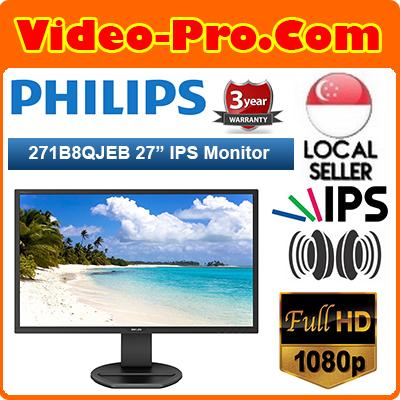 Black Philips 273V7QDAB 27-Inch VGA  IPS Full HD  Monitor with Speakers