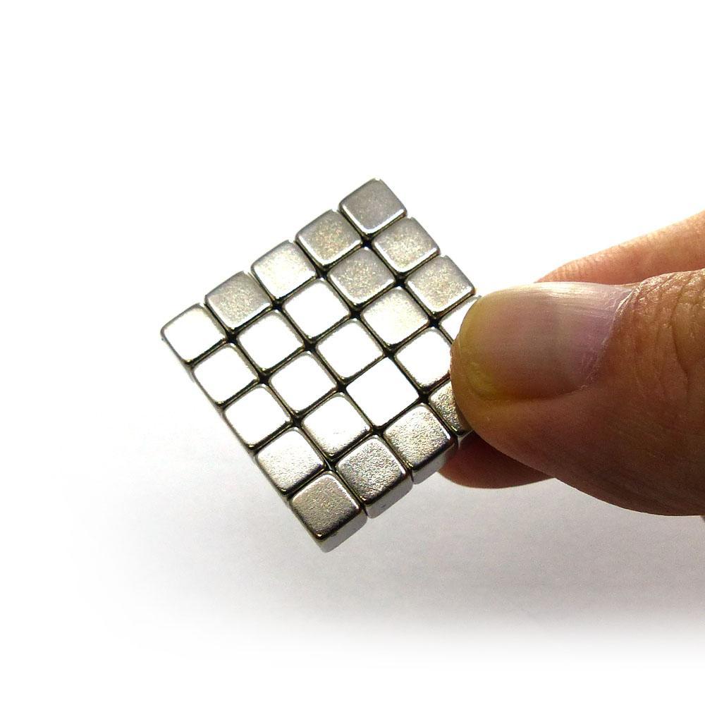 Cube Neodymium Magnets – 5mm, N35 – 25pcs