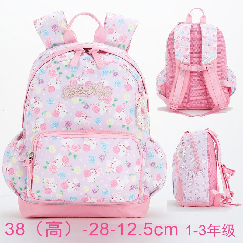 Hello kitty Childrens School Bags Young Students 1-2-5 Grade Shoulders School Bag Health Spinal Care Large Capacity Bags Hello Kitty School Bag