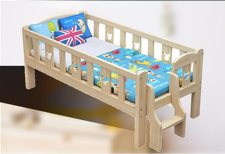 Wooden Baby Bed With Rear Steps