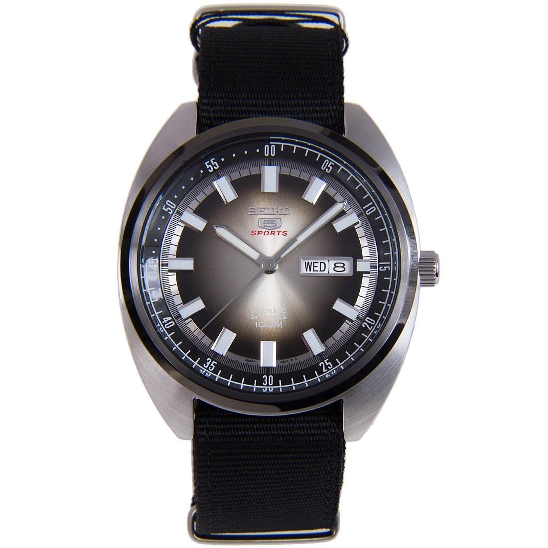 Seiko 5 Sports Turtle Black Nylon Strap SRPB23K1 SRPB23K SRPB23 Men's Watch