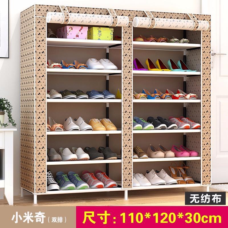 Cheapest Rc Global Shoe Storage Shoe Shelves Shoe Rack Shoe Cabinet Shoe Organizers Double Row 6 Tier 110X120X30Cm Micky Design
