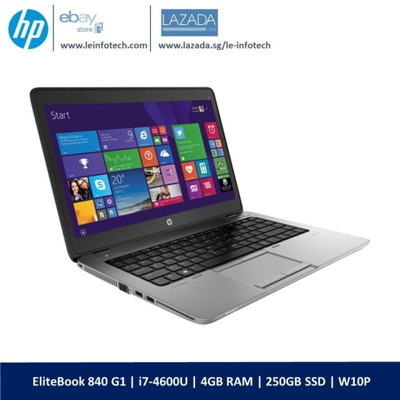HP Elitebook 840 G1 14 Core i7-4600U@2.1Ghz 4th Gen 4GB RAM 250GB SSD Win 10 Pro Warranty Wifi Bluetooth Webcam Used