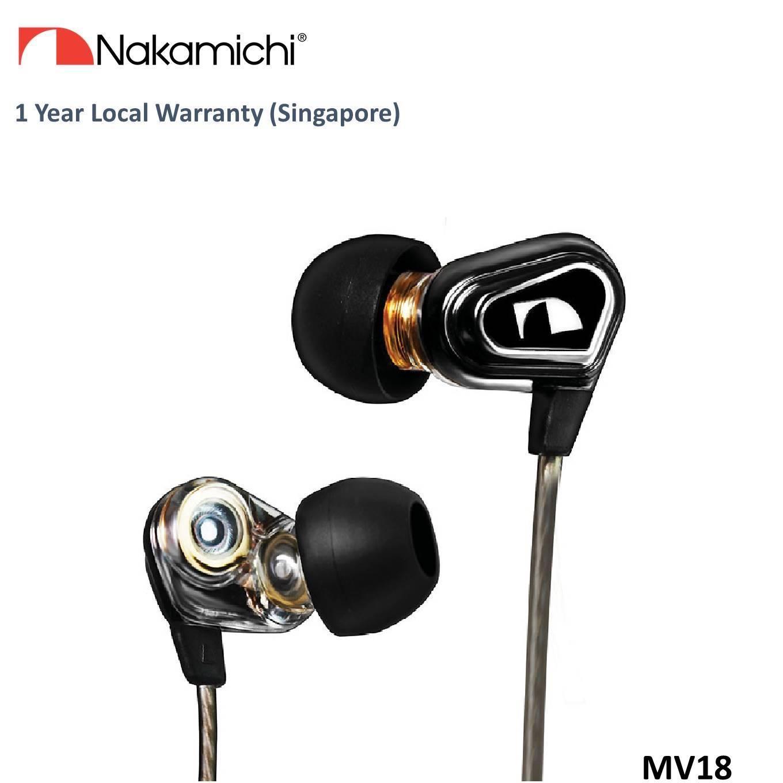 Nakamichi Nmnepmv18 Inear Dual Driver Earphone Black For Sale
