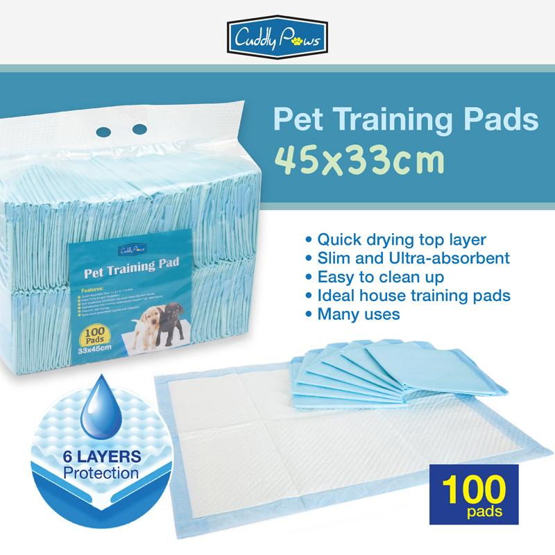 Cuddly Paws Ultra-Absorbent Small Pets Training Pads 45x33cm 100pcs By Fins And Paws.
