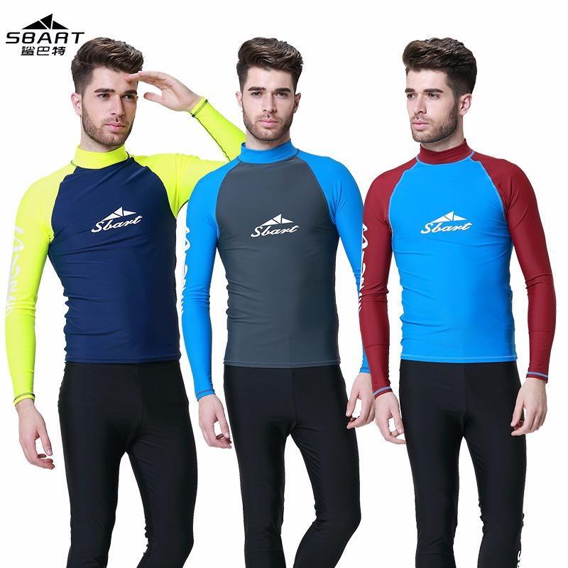 Sale Sbart Men Tops Clothing Surfing Snorkeling Upf50 Long Sleeves Swimming Swimwear Windsurf Sports Wetsuit Diving Suit Rashguard Sbart Wholesaler