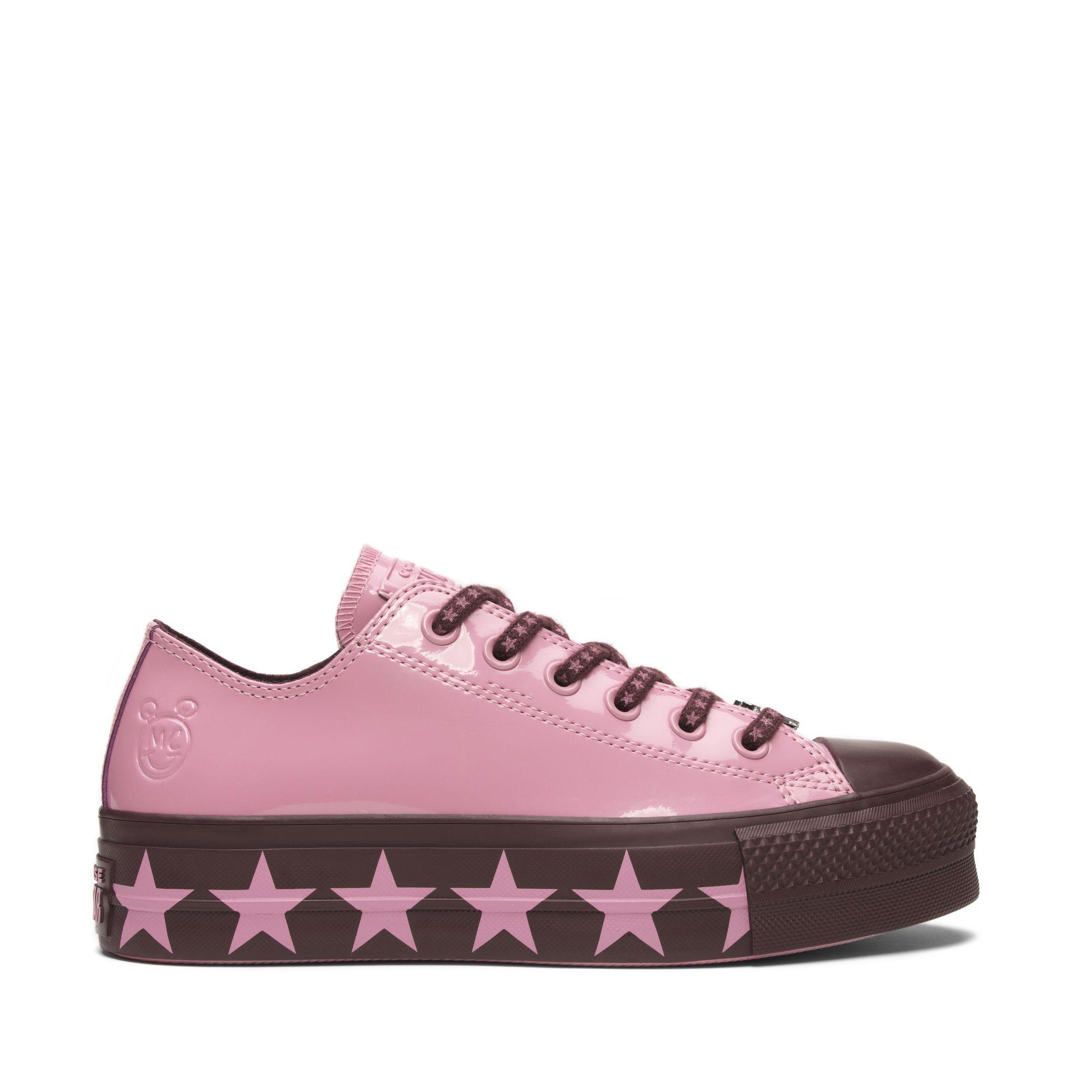 495995e13f4  SALE  CONVERSE MILEY CYRUS CHUCK TAYLOR ALL STAR LIFT OX - PINK DARK