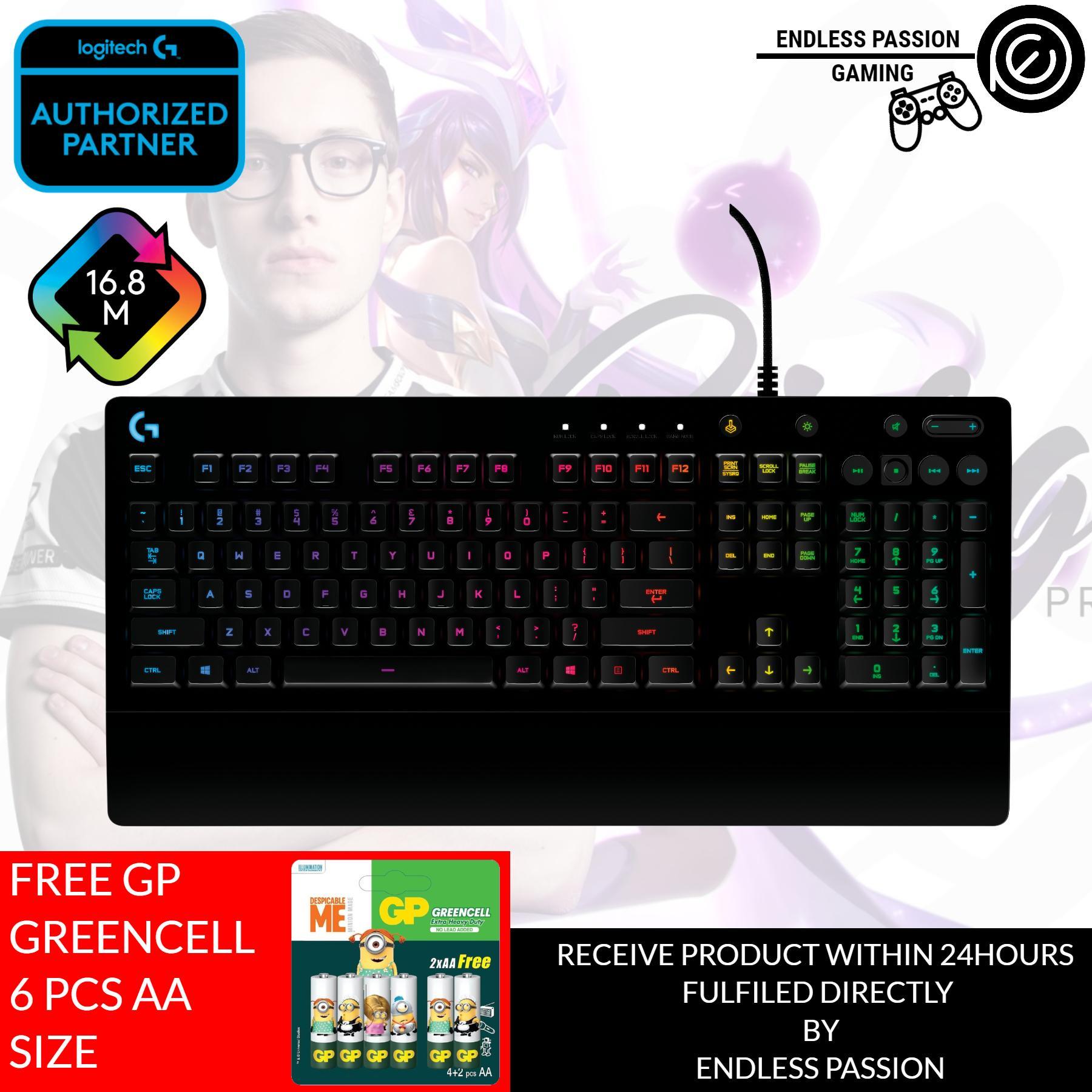 7392ed7fabb Logitech G213 Gaming Keyboard with Dedicated Media Controls, 16.8 Million  Lighting Colors Backlit Keys,