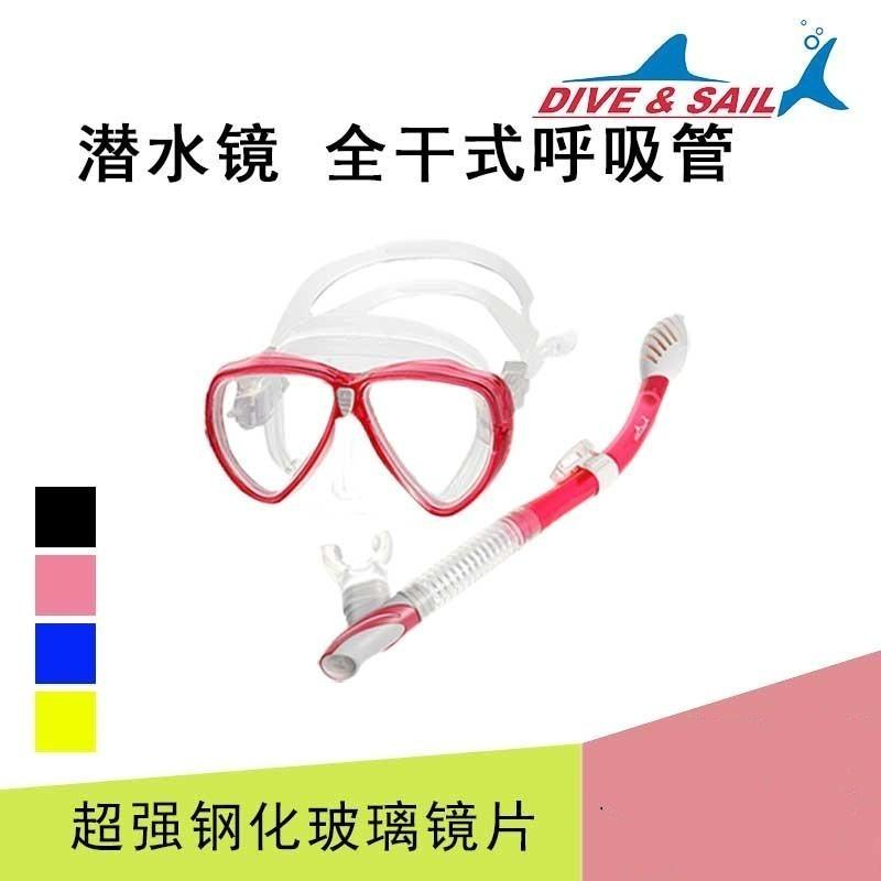 Snorkeling Sambo Diving Mask Adult Mirror Full Dry Breathing Tube Snorkeling Mask Equipment Swimming Glasses Set