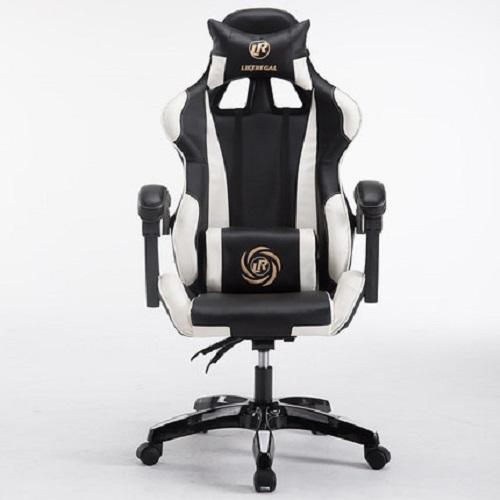 Gaming Chair with massage function - Nylon Caster Botton Support