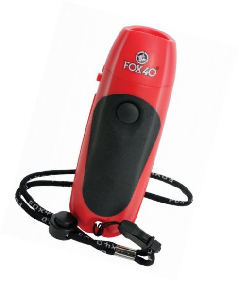 Fox40 Electronic Whistle With Loop Wrist Lanyard By Sports-Zone.