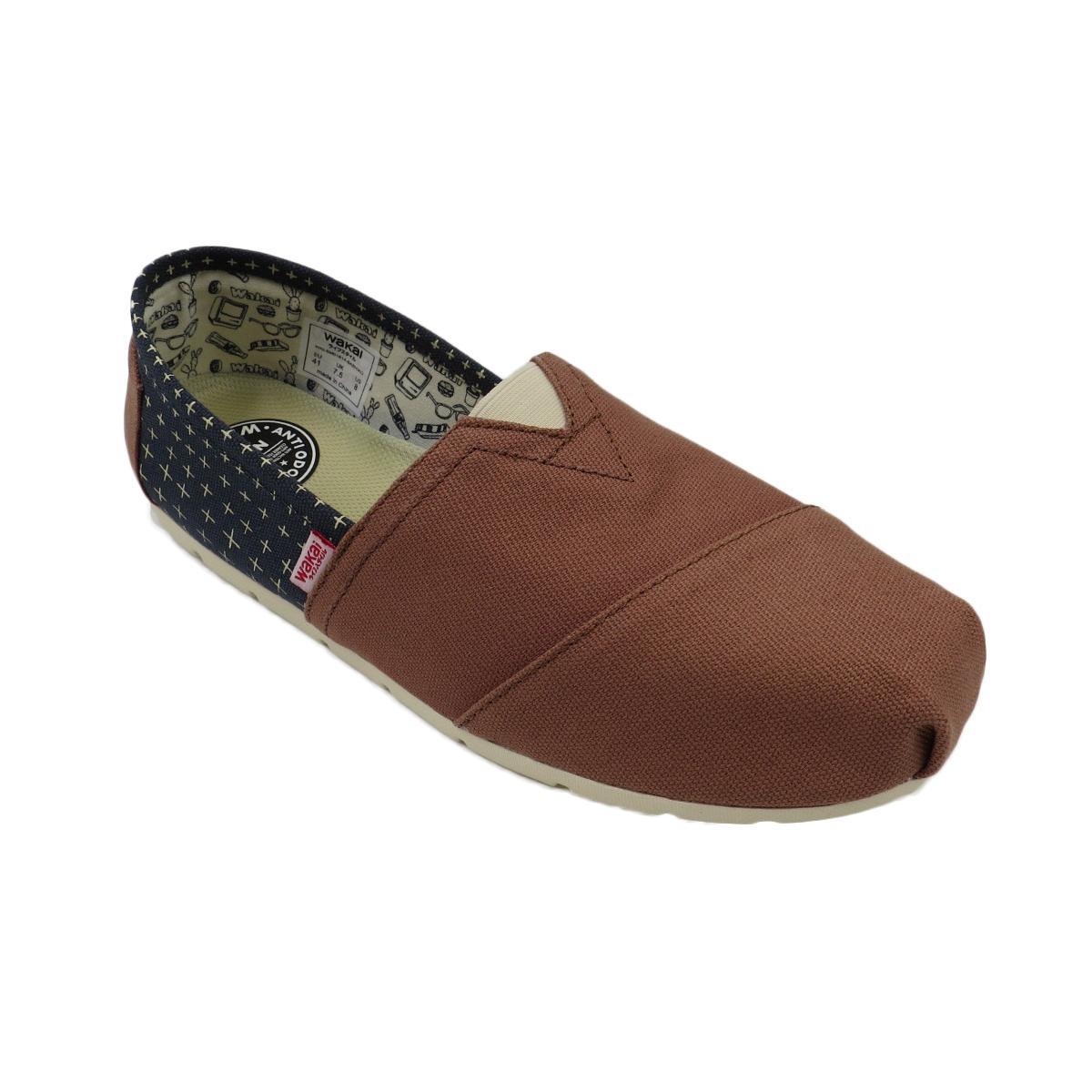Wakai Sashiko Women S Slip On Shoes Brown On Line