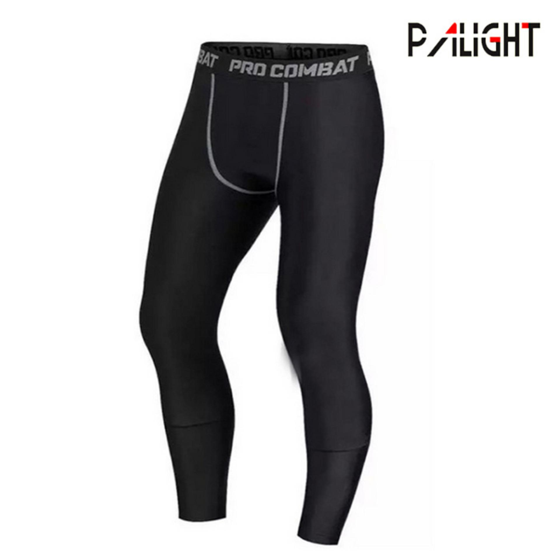 PAlight Men Compression Pants Gym Fitness Sports Running Leggings Tights Quick-drying Fit Training Jogging