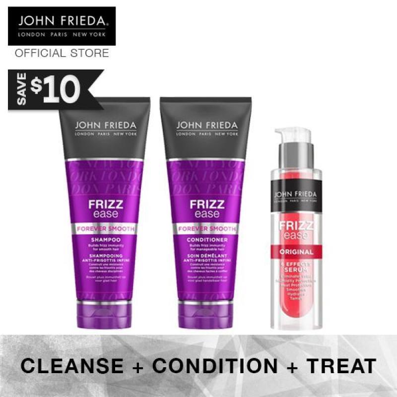 Buy Bundle - John Frieda Frizz Ease Forever Smooth Shampoo & Conditioner + Original Serum Singapore