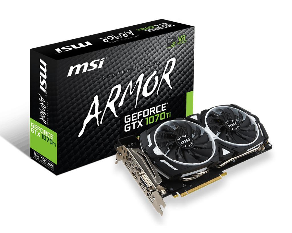 Price Msi Geforce Gtx 1070 Ti Armor 8G Msi Online