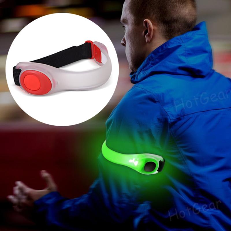 Running Armband Lights Led Safety Band Reflective Bracelet Gear For Cycling Jogging Hiking Replaceable Battery Adjustable Wearable Light Belt Strap Waterproof High Visibility Glow In The Dark For Jogging Walking Cycling Concert Camping Outdoor Sports By Hotgear.