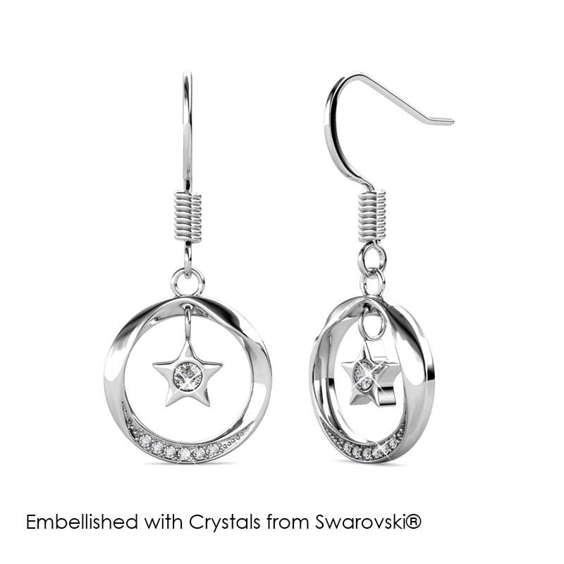 ... Stellar Hook Earrings Embellished with Crystals from Swarovski