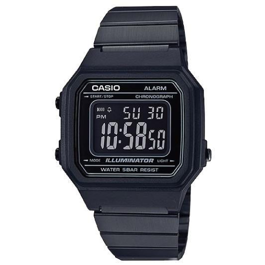 Casio Unisex Digital Black Ion Plated Stainless Steel Band Watch B650Wb 1B B 650Wb 1B For Sale Online