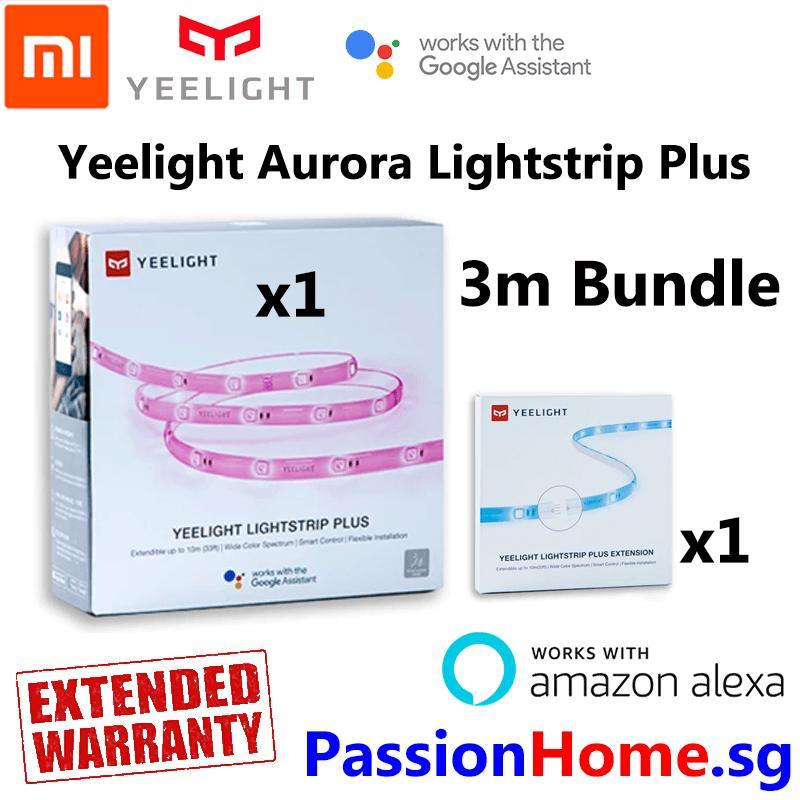 Yeelight Aurora Lightstrip Plus 2018 v2 - 3 Metre Bundle - Smart Wifi LED Light Strip - (Works with Google Home / Assistant, Amazon Alexa / Echo, IFTTT) - Intelligent Mi Home / Yeelight App - Xiaomi Mijia Home Automation - Passion Home