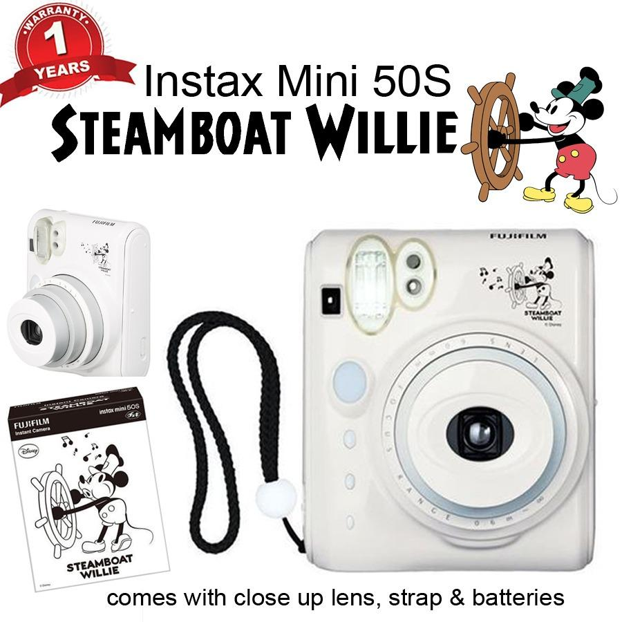 Sale Fujifilm Instax® Mini 50 In Piano Black White Mickey Steamboat Willie With 1 Year Warranty Singapore Cheap