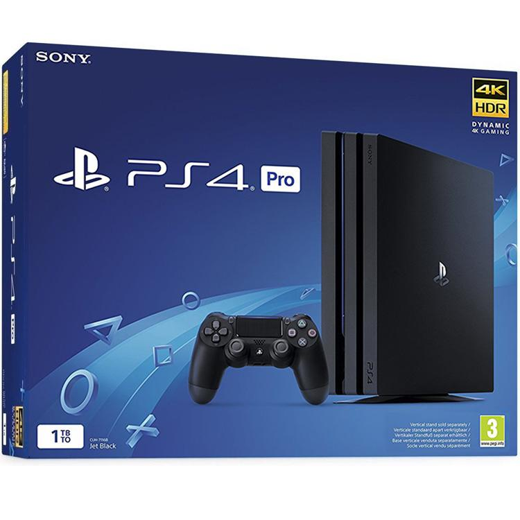 Sony PS4 Pro (4K HDR)- 1TB Console + 3 Best selling games bundle