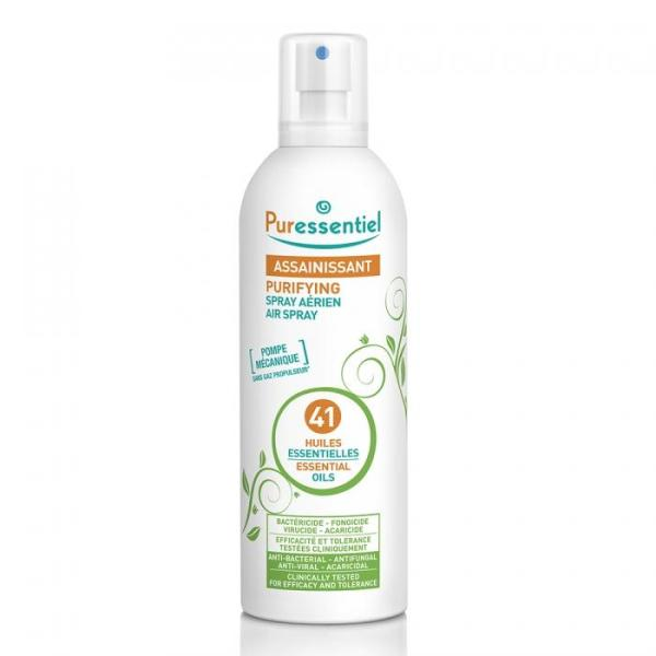 PURESSENTIEL PURIFYING AIR SPRAY WITH 41 ESSENTIALS OILS 500ML, PLANT-BASED, TO PURIFY HOME/OFFICE, NATURAL WAY TO FIGHT AGAINST AIRBORNE VIRUSES, BOTTLE MAY BE DENTED, DO NOT ORDER IF YOU WANT FLAWLESS BOTTLE, EXP 2023
