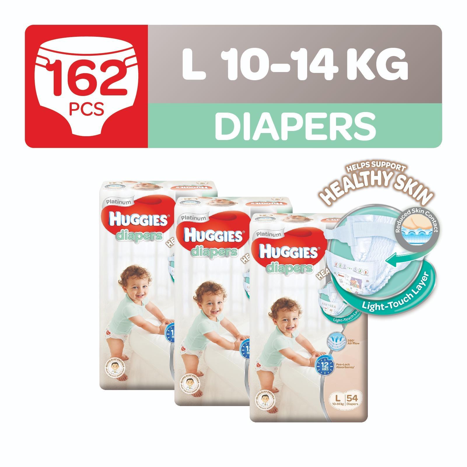 Review Huggies Platinum Diapers L 54Pcs X 3 Packs Huggies On Singapore