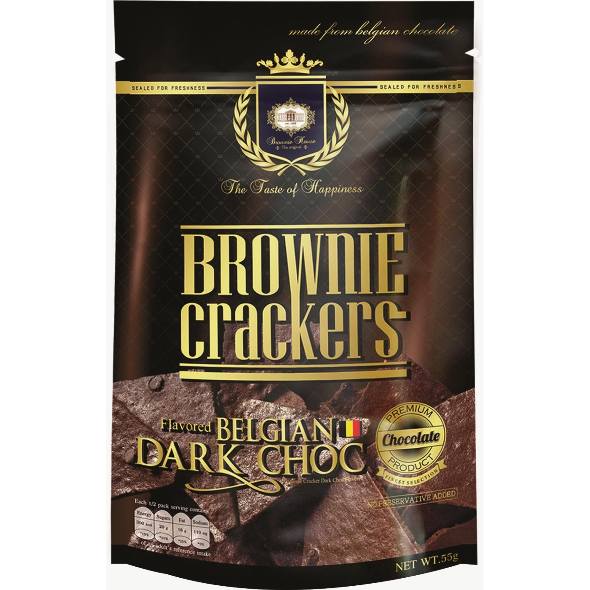 Brownie Crackers 55g X 5packs Bundle (belgian Dark Chocolate) - Brownie House The Original By Nomlah Trading.