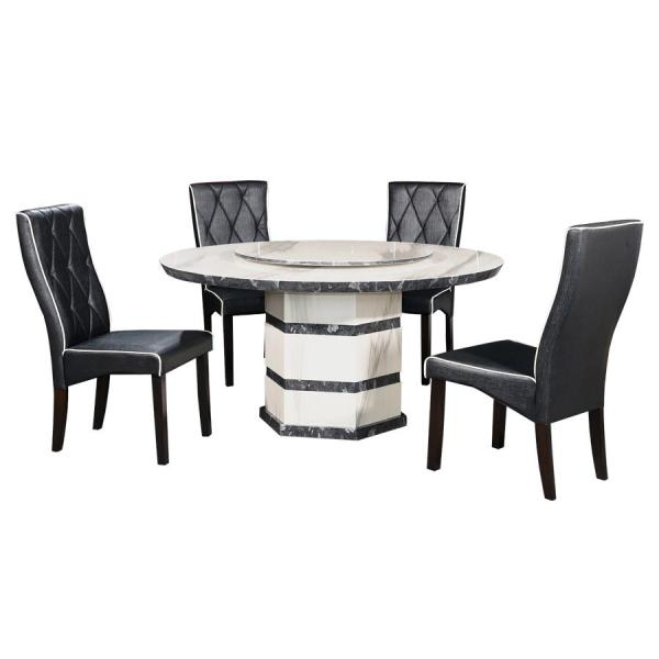 LIVING MALL_Ferenc Dining Set 1+4_FREE DELIVERY