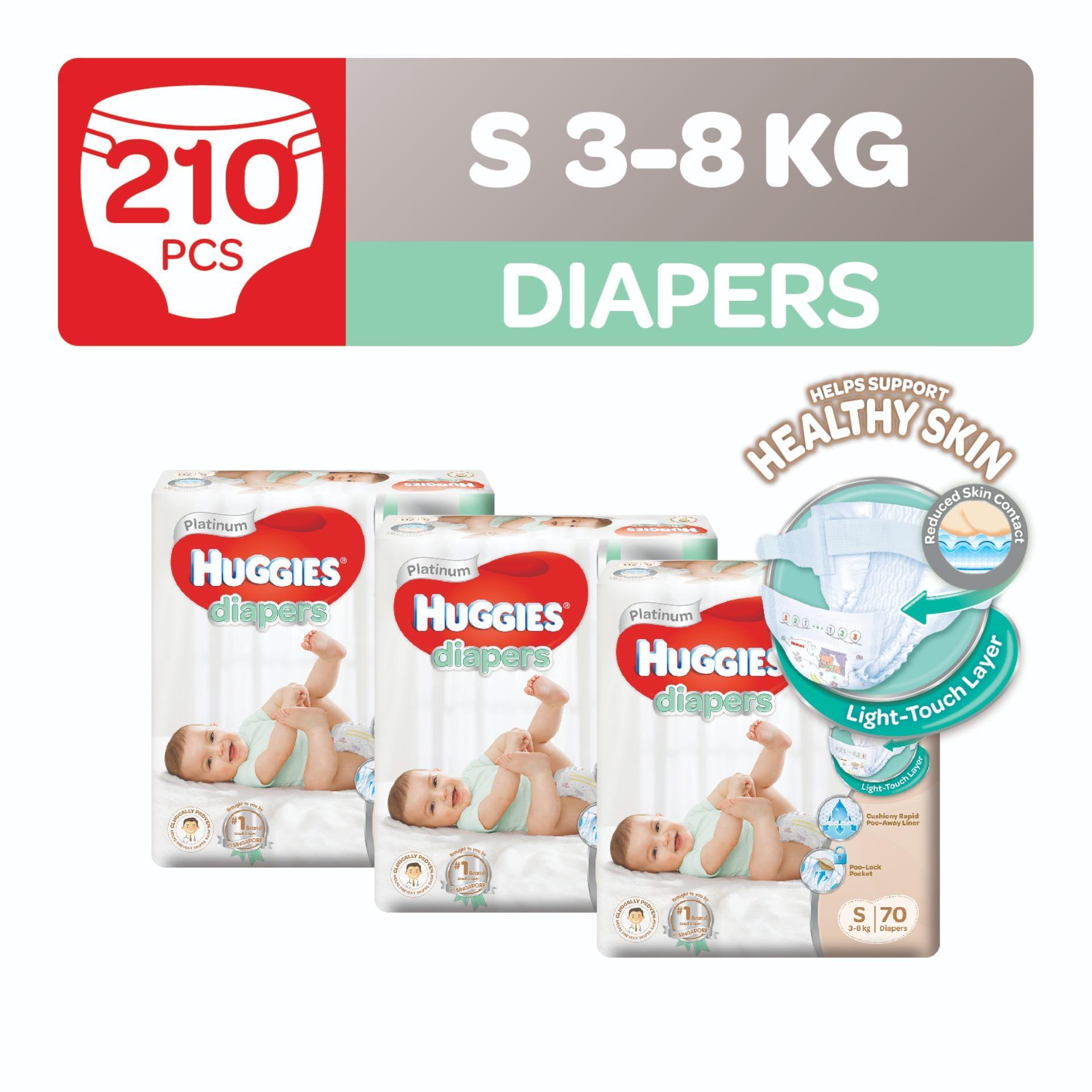 Buy Huggies Platinum Diapers S 70Pcs X 3 Packs