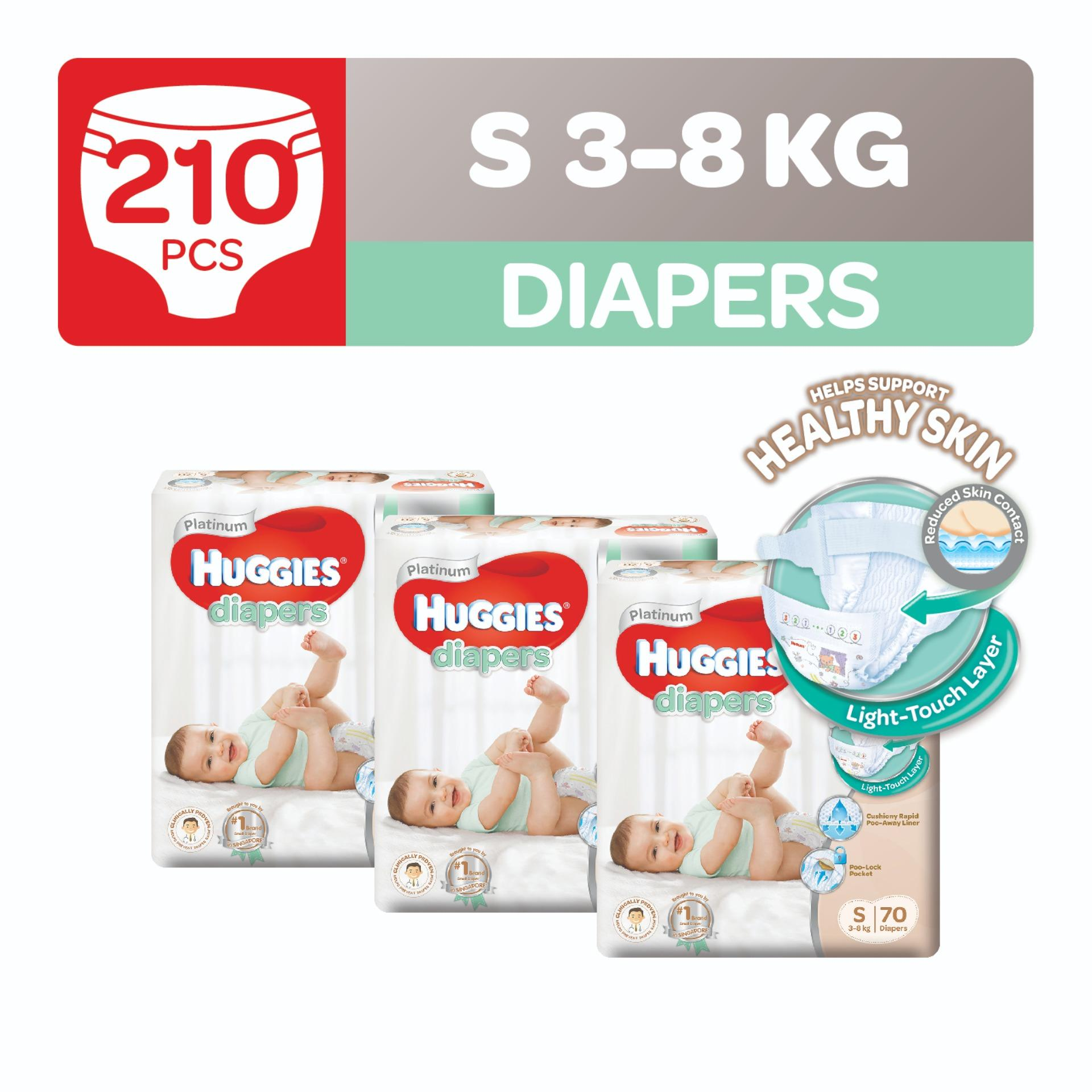 Sale Huggies Platinum Diapers S 70Pcs X 3 Packs Singapore