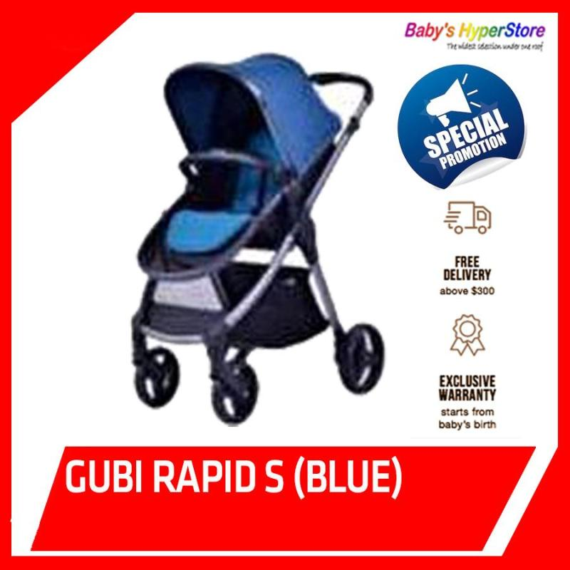 Gubi  Rapid S (Blue) Stroller  - Local seller warranty 1 Year Singapore