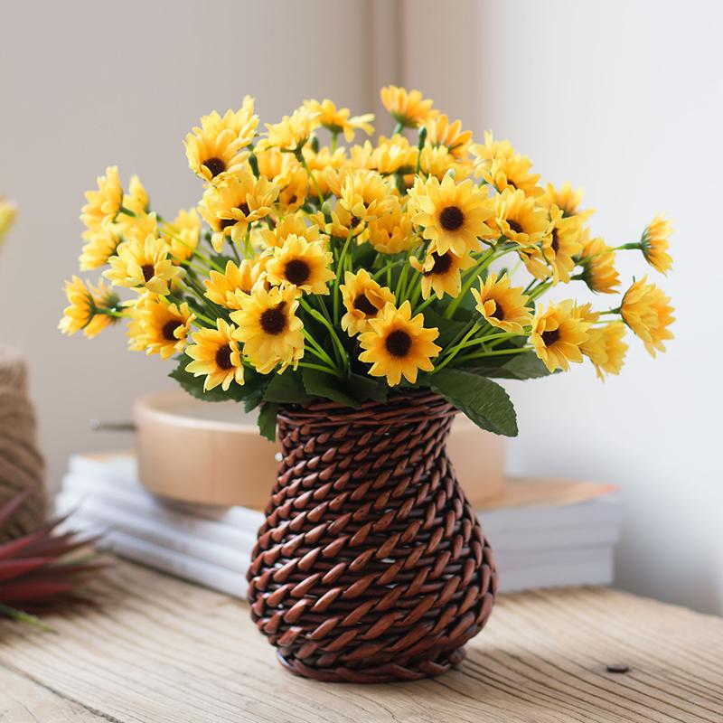 Imitation Flowers Sunflower Set Sunflower to Beam Silk Flower 58 Accessories Artificial Flowers Photographic Prop Desktop Decoration Flower