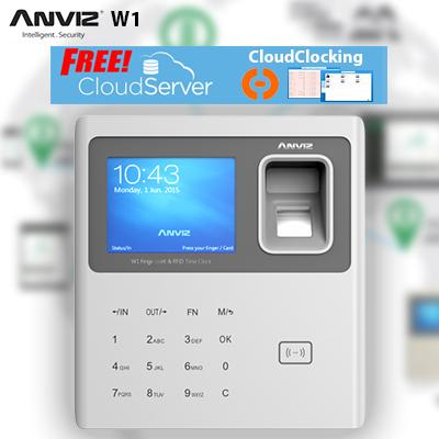 Anviz W1 Biometric Fingerprint, Password 2 in 1 Time Attendance with Free CMS software or Free CloudServer. Singapore Authorized Reseller