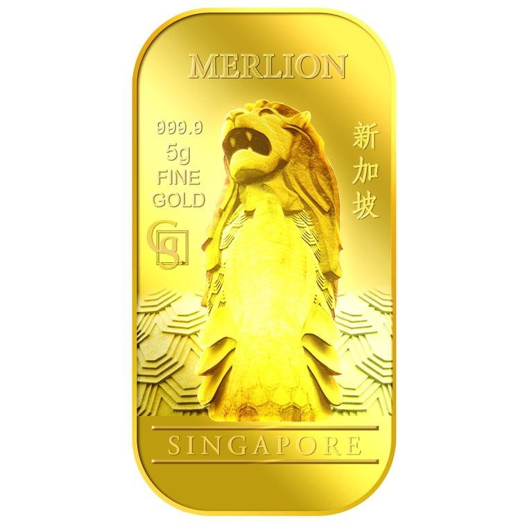 Compare Puregold Singapore 5G Merlion Classic Gold Bar 999 9 Prices